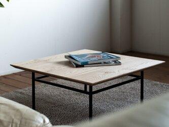 天然オイル仕上「栗の木」コーヒーテーブルの画像