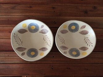 flower plate ーyellow+blueーの画像
