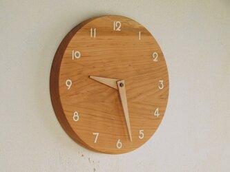 「masuoさまご注文の品」木製 掛け時計 丸 桜材の画像