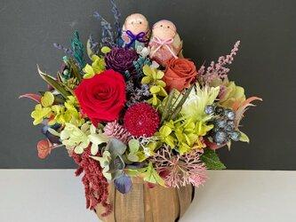 Rose autumn basketの画像