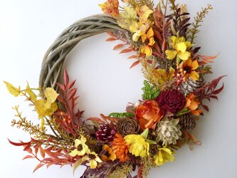 Autumn leaves wreath VIIの画像