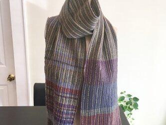 手織り 創作マフラーの画像
