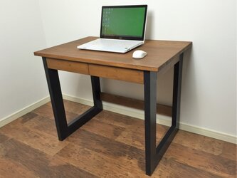 A3サイズの引出し付きパソコンデスク 事務机や作業机としても◎の画像