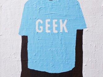 ナマケモノ(GEEK水色Tシャツ) M8サイズ絵画の画像