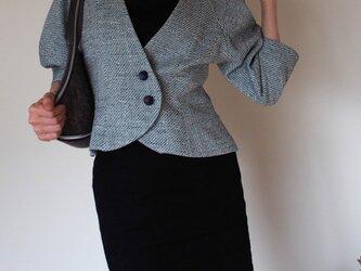 ツボミ膨らむお袖のジャケット Joe ◆ビンテージボタン&コットンツイード1点物◆ の画像