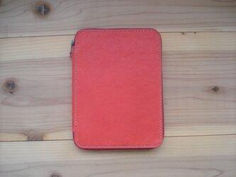 母子手帳ケース 赤色【受注製作】の画像