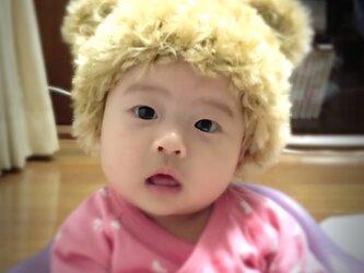 ふんふわくまさんになれる冬用帽子♡の画像