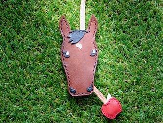 【オーダー】愛馬のキーカバー 鹿毛・ブラウンの画像
