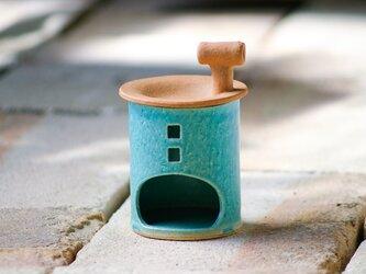 【予約販売】アロマ&茶香炉(煙突おうち)- タイプA(アオ)※抗菌や消臭、風邪予防にも◎の画像