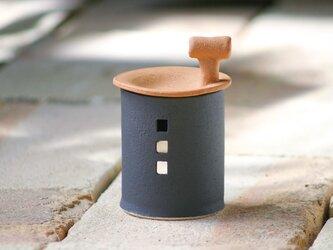 【予約販売】アロマ&茶香炉(煙突おうち)- タイプC(クロ)※抗菌や消臭、風邪予防にも◎の画像
