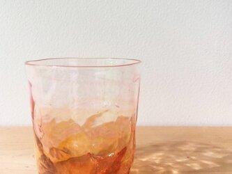 4つ足オールドグラス 赤の画像