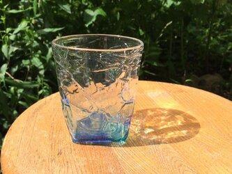 4つ足オールドグラス 青の画像