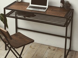 Industrial Pine Wood Desk 100cm・インダストリアル天然木デスクの画像