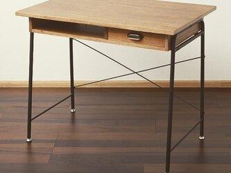 Antique Feeling Natural Wood Desk 90cm・アンティーク加工天然木デスクの画像