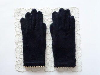 ニット手袋(ブラック)の画像