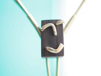0024「黒檀+真鍮」ひとこと mokujiiの画像
