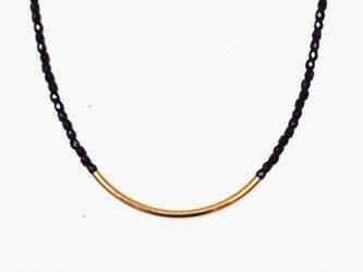 2トーンネックレス(ブラック)の画像