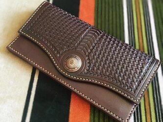 カードがたっぷり入る長財布 ブラウンの画像