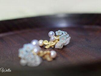 小花とパールのブーケイヤリング*.゜の画像