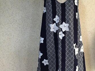 浴衣地ワンピース 桔梗 160917-04の画像