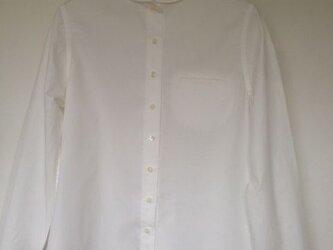 J様 タイプライターワッシャーホワイトシャツの画像