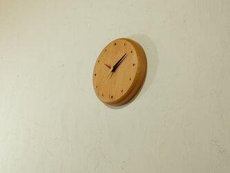 壁掛け時計 (beech011)の画像