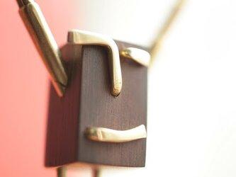 0028「黒檀+真鍮」ひとこと mokujiiの画像