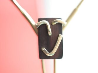 0030「黒檀+真鍮」ひとこと mokujiiの画像