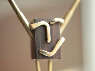 0031「黒檀+真鍮」ひとこと mokujiiの画像