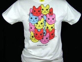 ★オリジナルデザイン★うさぎ猫一杯のTシャツ・新品★の画像