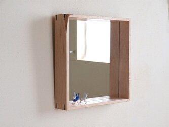 木製 鏡 楓(カエデ)材 ミラーの画像