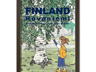 ポスターA3サイズ 白樺の木/(フィンランド・ロバニエミ)の画像