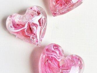 ハートペーパーウェイト ピンクの画像