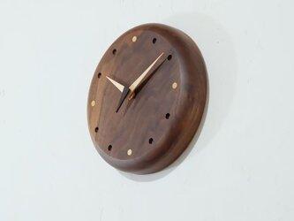 壁掛け時計 (walnut101)の画像