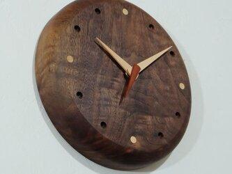 壁掛け時計 (walnut102)の画像