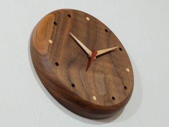 壁掛け時計 (walnut104)の画像