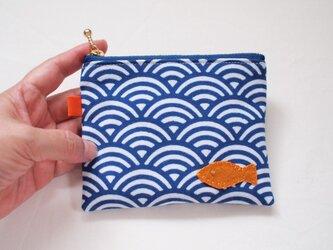 青海波のミニポーチ・お魚の画像