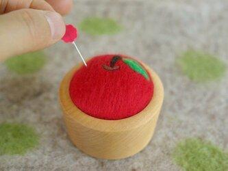 羊毛ピンクッション【針山】りんごの画像