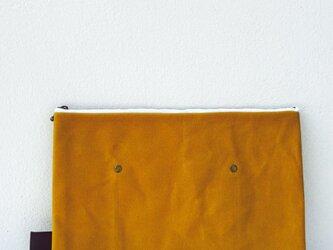 【受注オーダーK様】帆布×本革 ワイルドクラッチ mustardの画像