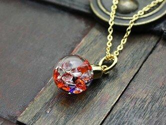 Bijou Glass Ball Pendant ハロウィンカラーの画像