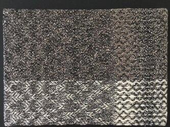 #16009 A4サイズ 手織りファブリックパネルの画像