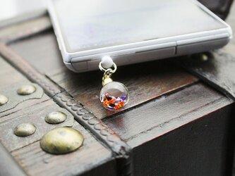 Bijou glass Ball ストラップorイヤホンジャック ~ハロウィンカラー~の画像