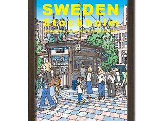 ポスターA3サイズ アイスを買う/(スウェーデン・ストックホルム)の画像