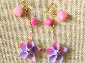 ♡桜が揺れる!折り紙ピアス♡の画像