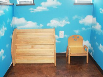 絵本棚 床置き型 3段の画像