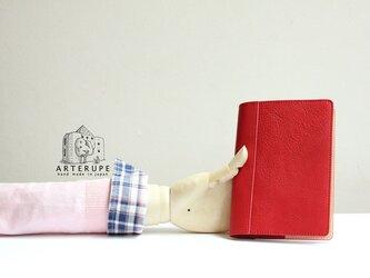 A6Size・ノートブックカバー/Dottoreカーディナルレッドの画像