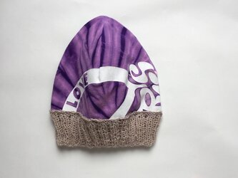 ラブ♡なダイ染めのニット帽の画像