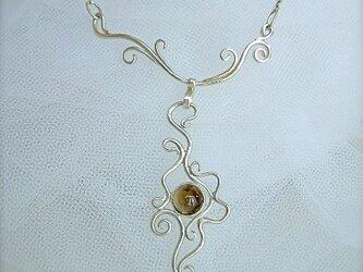 スモーキークォーツのネックレスの画像