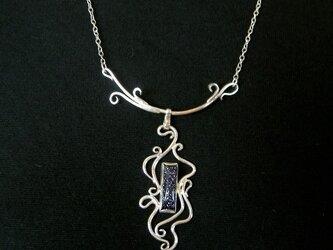 紫金石のネックレス1の画像