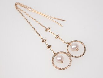 K10 Halo Moon Pearl Earringsの画像